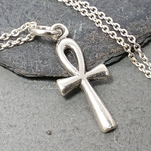 Tiny Egyptian Ankh Necklace - 925 Sterling Silver