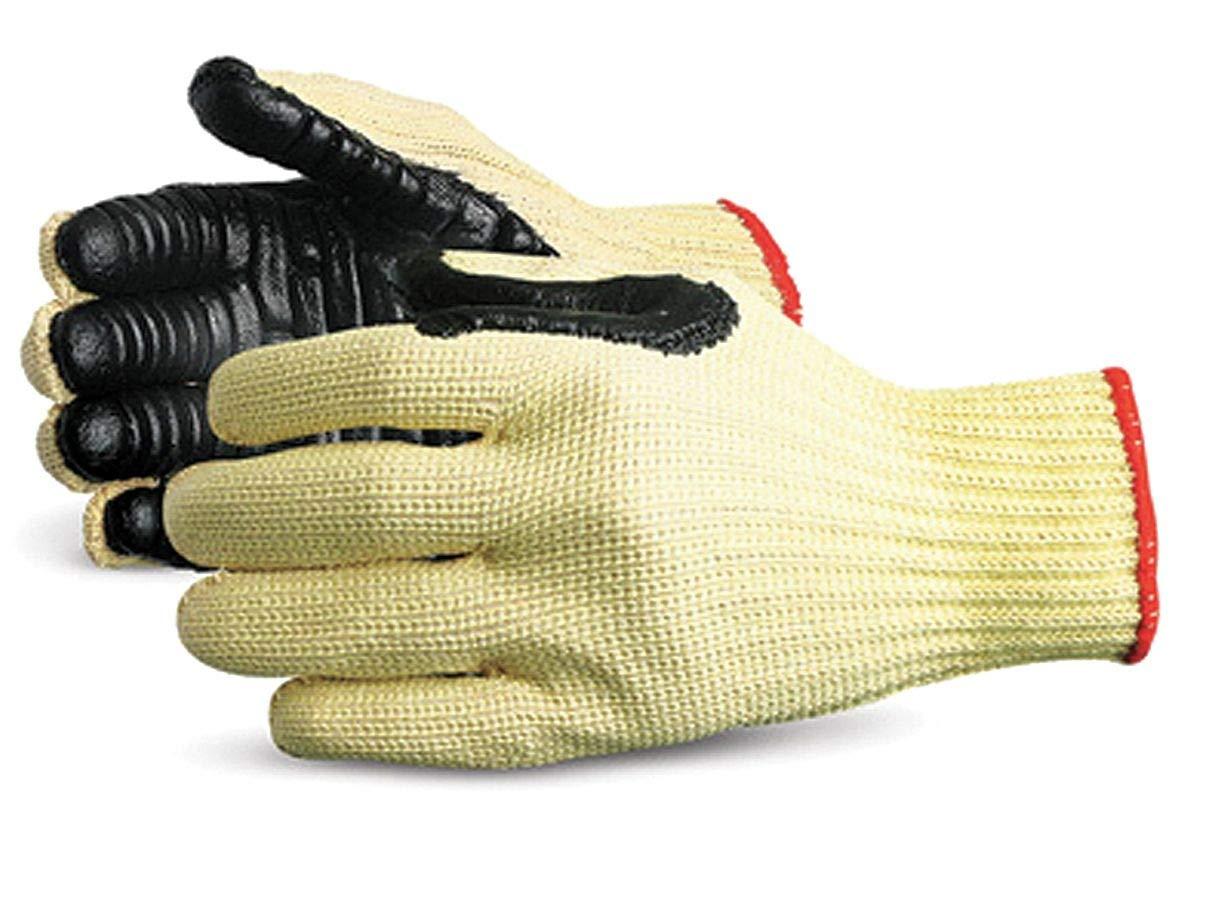 Impacto Anti-Vibration Gloves, Chloroprene Palm Material, Black/Yellow, L, PR 1 - 4741 by Impacto (Image #1)