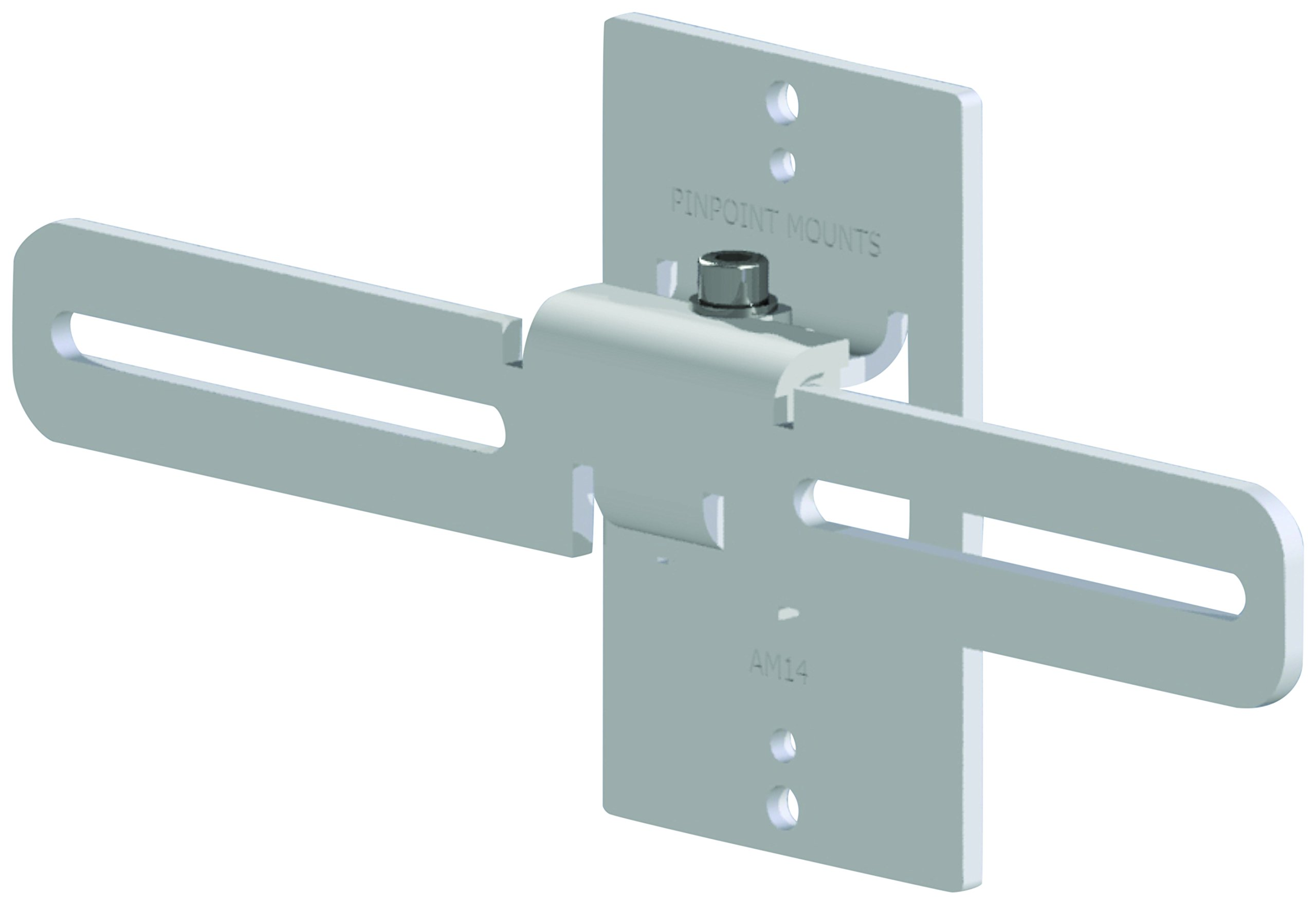 Pinpoint Mounts AM14-WHITE Wall Home Speaker Mount, White by Pinpoint Mounts (Image #1)