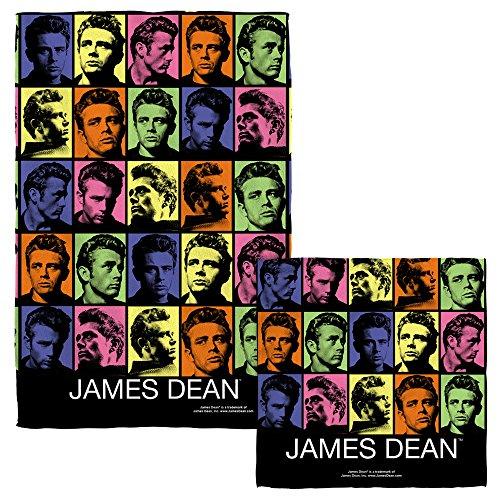 James Dean Color Block Face Hand Towel Combo White