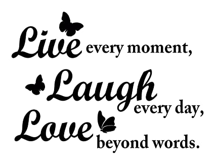 Live Laugh Love Wall Decal Inspirational Quote With Butterflies. Perfect  Inspiring Art Decor For Family