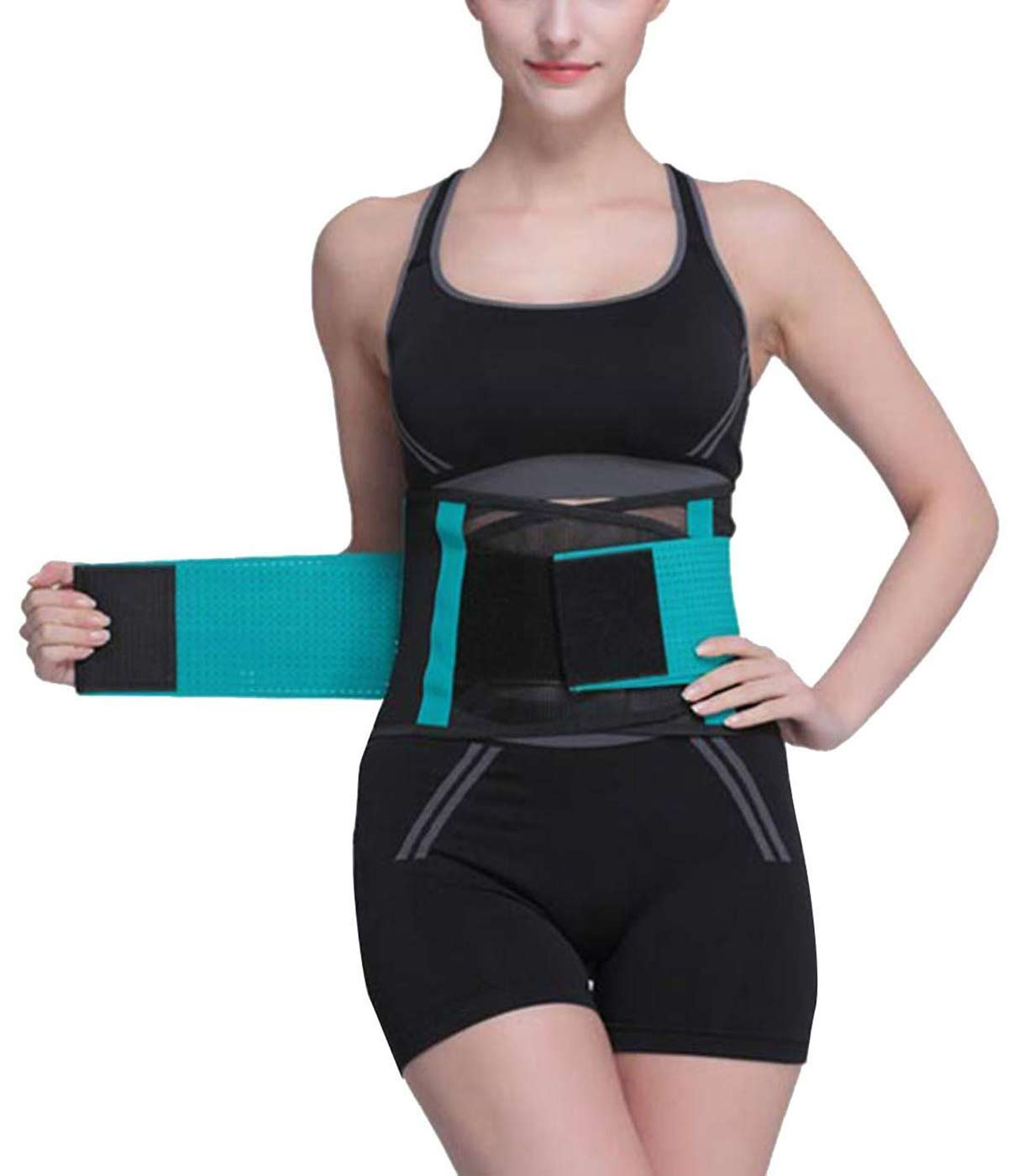 Waist Trimmer Belt - Neoprene Waist Sweat Band for Slimmer Water Weight Loss Mobile Tummy Tuck Belts Strengthen Tummy Abs During Exercising Workout Size XXL Green
