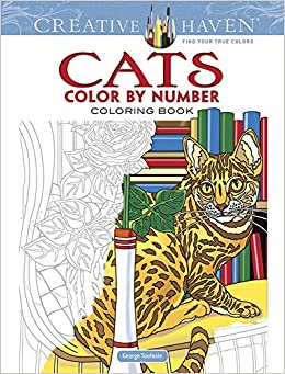 Amazon Creative Haven Cats Color By Number Coloring Book Adult 9780486818535 George Toufexis Books