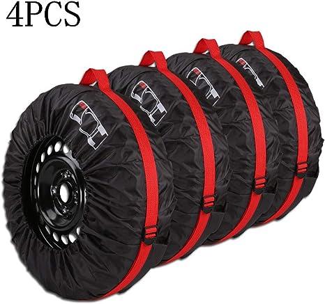 Queta Reifentaschen Set Für 13 16 Zoll Große Autoreifen Reifentüten Reifensäcke Mit Reifenposition Aufdruck Und Behandeln Reifen Tasche 4 Teiliges Set Auto