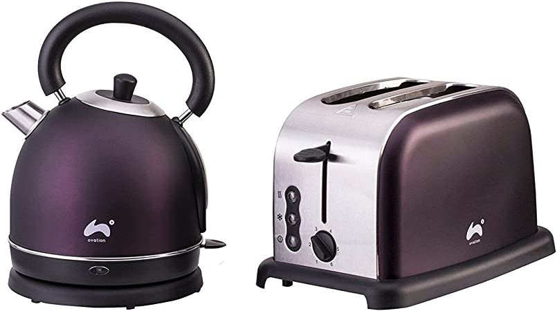 1.8L Cordless Electric Kettle Two Slice Wide Slot Toaster Set Seafoam Green