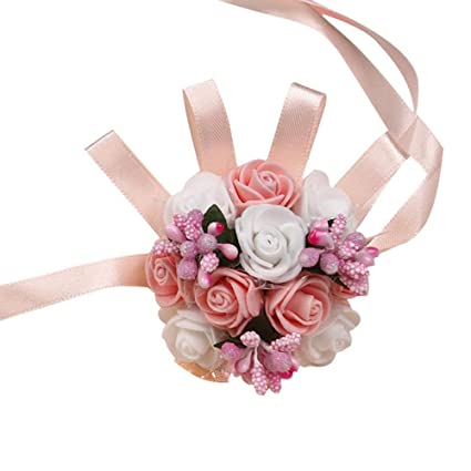 Health & Beauty 2019 Latest Design 1pc Handcrafted Wrist Corsage Bracelet Artificial Silk Rose Flowers For Wedding Hand Flower Bouquet For Bride Event Supplies Medical & Mobility