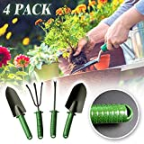 Garden Tools Set 4PCS,Metacrafter Heavy Duty Gardening Kit Including Trowel,Transplanter,Cultivator,Weeder with Non-Slip Handle for Planting,Flowers,Vegetable,Lawn-Gardening Gifts for Kids Men Women