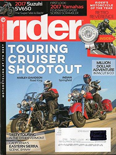 Rider September 2016 Magazine Motorcycling At It's Best TOURING CRUISER SHOOTOUT HARLEY-DAVIDSON ROAD KING