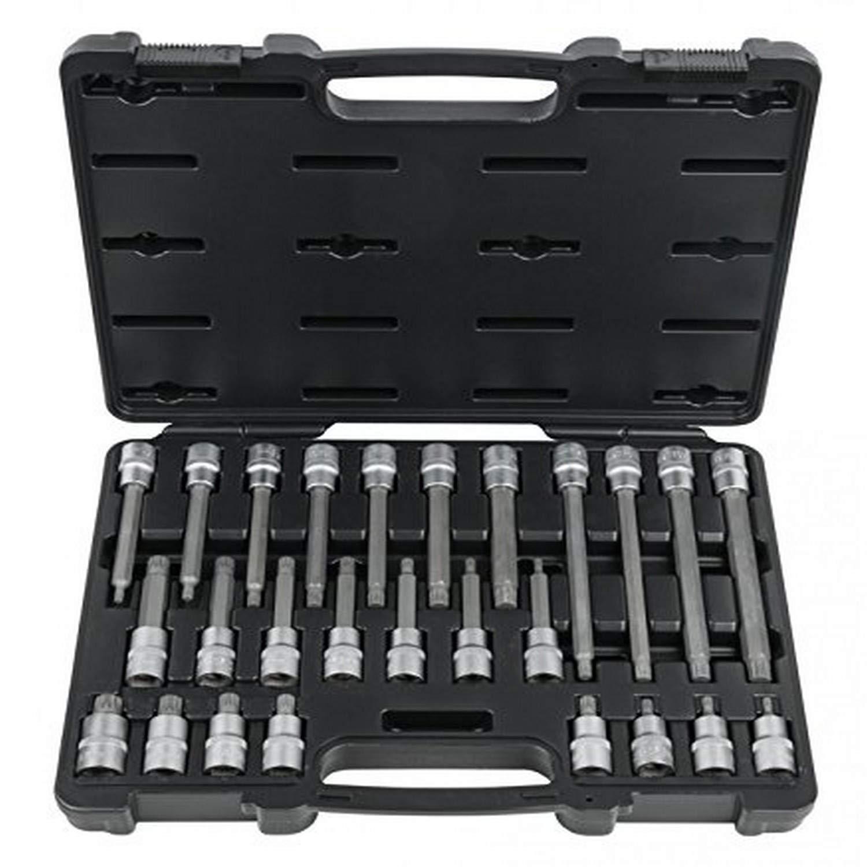 KS Tools 911.1635 Pour les vis cylindriques XZN/® Coffret de douilles 1//2 En Chrome Vanadium extra-fin Finition Satin/ée 26 pi/èces