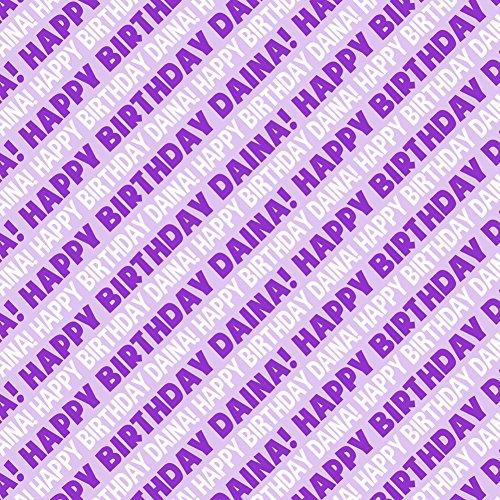 Daina Happy Birthday Premium Gift Wrap