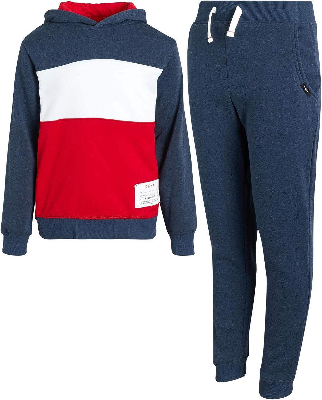 DKNY Boys Jogger Set - 2-Piece Fleece Pullover Hoodie Sweatshirt and Sweatpants: Clothing