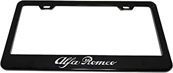 Pair Alfa Romeo License Plate Frame