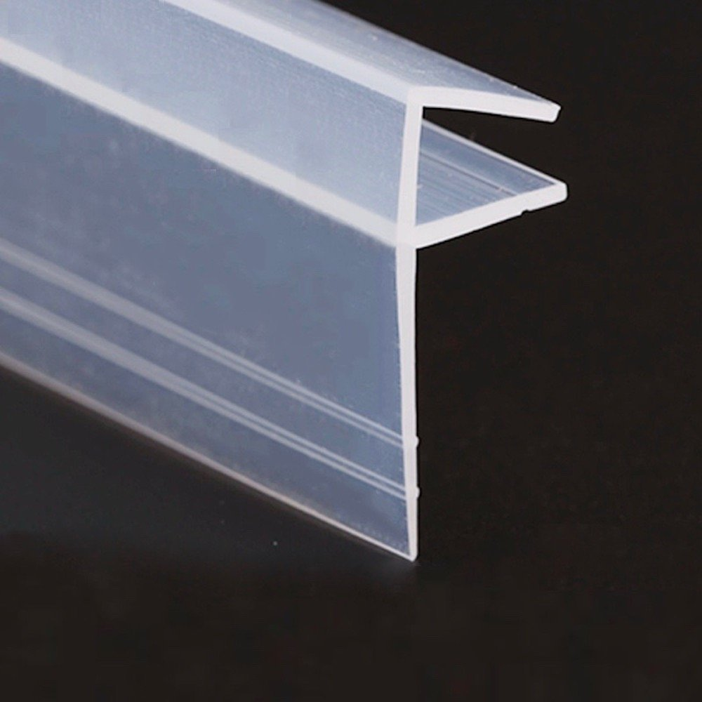 Glass Door Seals Sliding Sash Screen Shower Stall Sealing Silicone Draft Stopper 6mm 1/4 inch Glass 1 Meter 3.28 Feet Big F