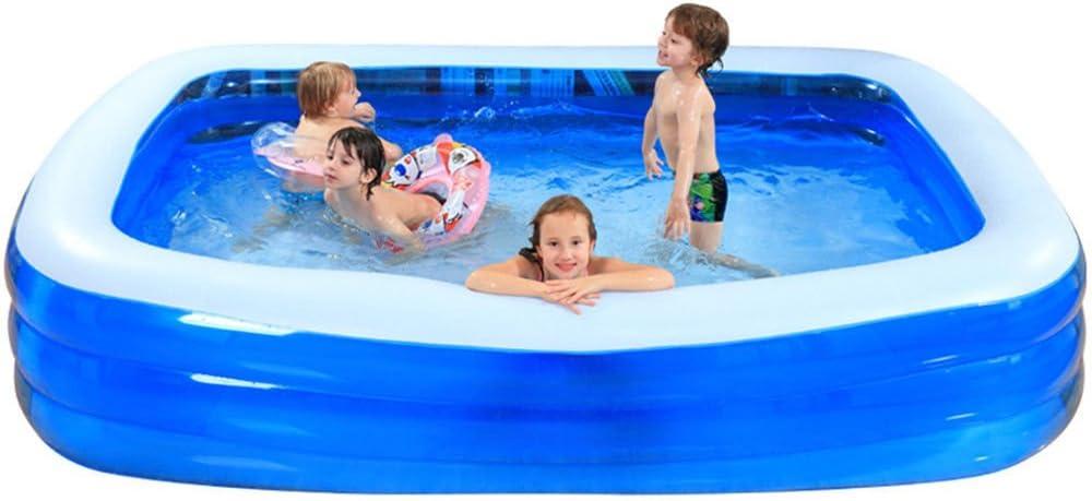 HEROTIGH Piscinas Hinchables Gran Inflable Hogar Grande Niños Piscina De Arena 265X165X60Cm Inflatable Pool