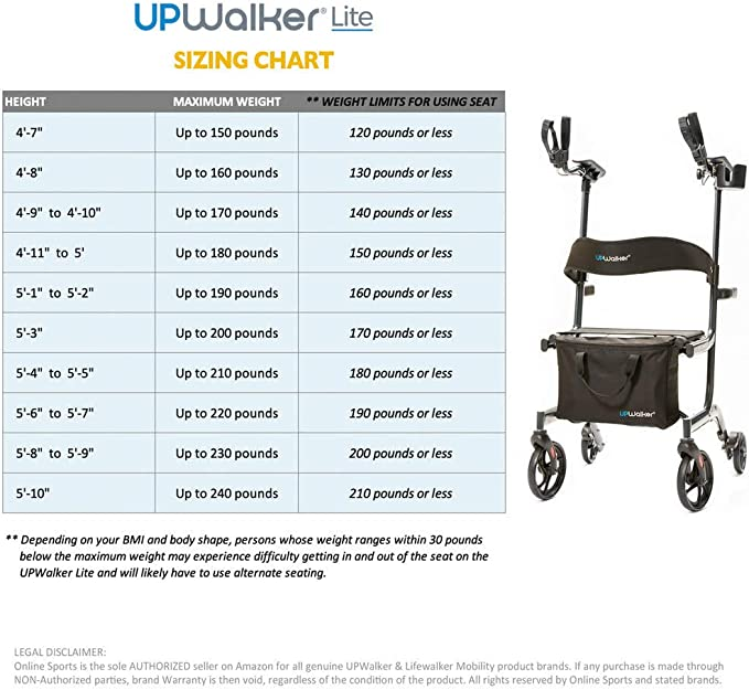 Amazon.com: UPWalker Lite Original Vertical Walker (Stand Up ...
