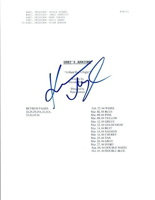 Katherine Heigl Signed Autographed Greys Anatomy Pilot Episode