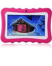 AOLVO TEEPAO Tablet Educativo para Niños con WiFi y Conexión Inalámbrica, Tableta de Aprendizaje Infantil Android 4.4, Pantalla HD y 8GB, Facilitando Educación y Entretenimiento para Niños