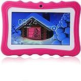 AOLVO Tablet Educativo para Niños con WiFi y Conexión Inalámbrica, Tableta de Aprendizaje Infantil Android 4.4, Pantalla HD y 8GB, Facilitando Educación y Entretenimiento para Niños