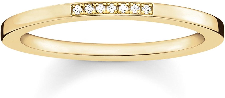 Thomas Sabo - Anillo de Mujer, Plata de Ley 925 con Diamante