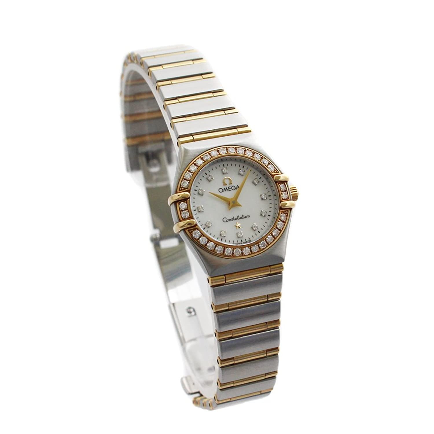 オメガ OMEGA コンステレーション ミニ ダイヤベゼル 1267.75 腕時計 シルバー レディース クオーツ ホワイトシェル文字盤 [中古] B07D2194D6