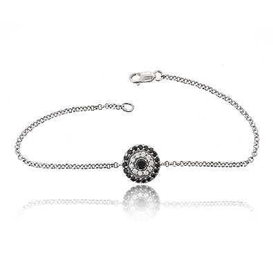 6b747900edea5 Amazon.com: SOVATS Round Evil Eye Chain Bracelet For Women Set With ...