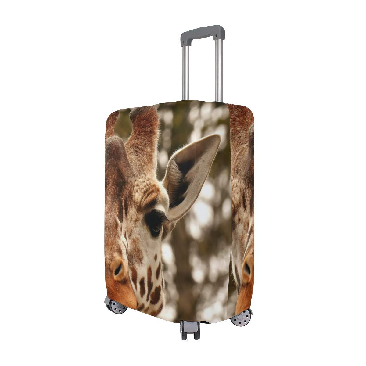 Travel Luggage Cover Wild Zoo Giraffe Head Suitcase Protector