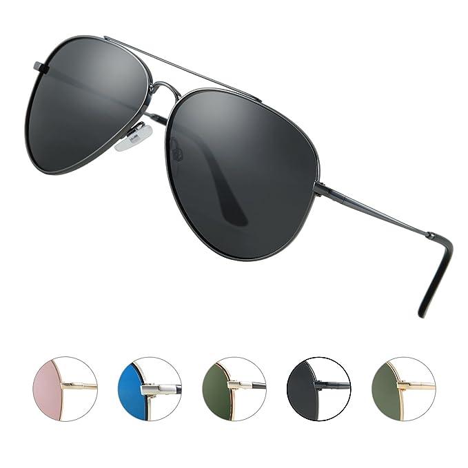 Elegear Gafas de Sol Hombre 2018 Gafas de sol polarizadas con estilo Redondo, Marco de
