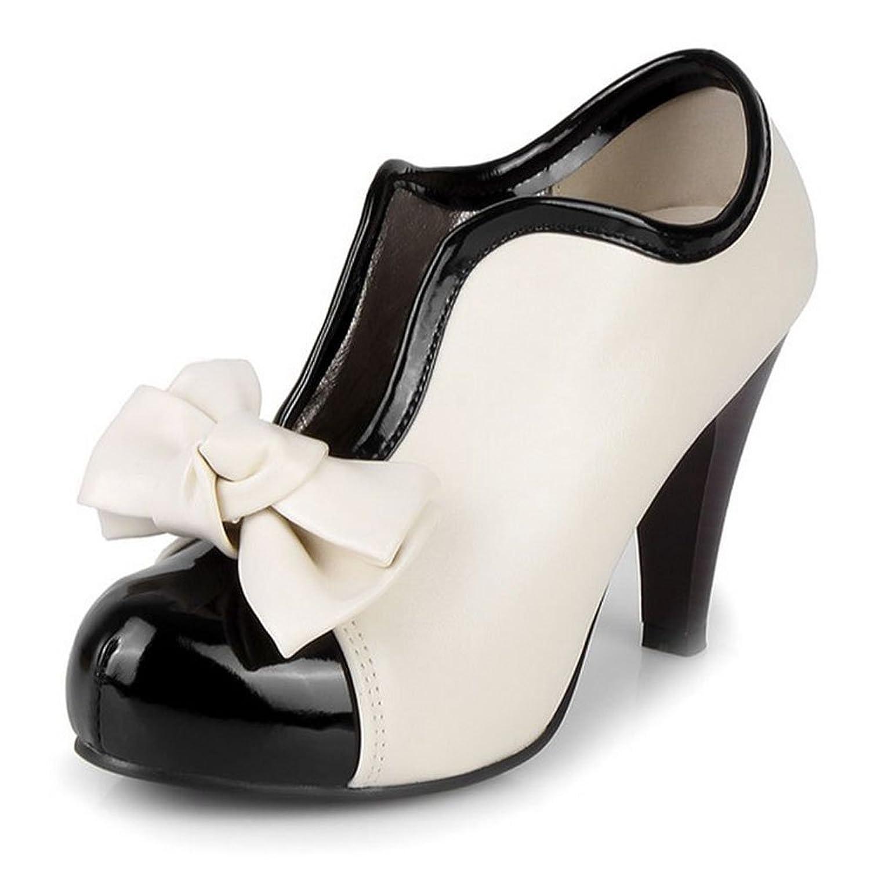 new COOLCEPT Women Vintage Platform Pumps High Heels Ankle