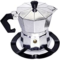 ludonie Durable Steel Moka Pot Coffee Maker Support Shelf Simmer Ring for Gas Stove