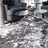 Nuloom 7′ 6 x 9′ 6 Hand Woven Latonia Silken Shaggy Rug in Silver Review