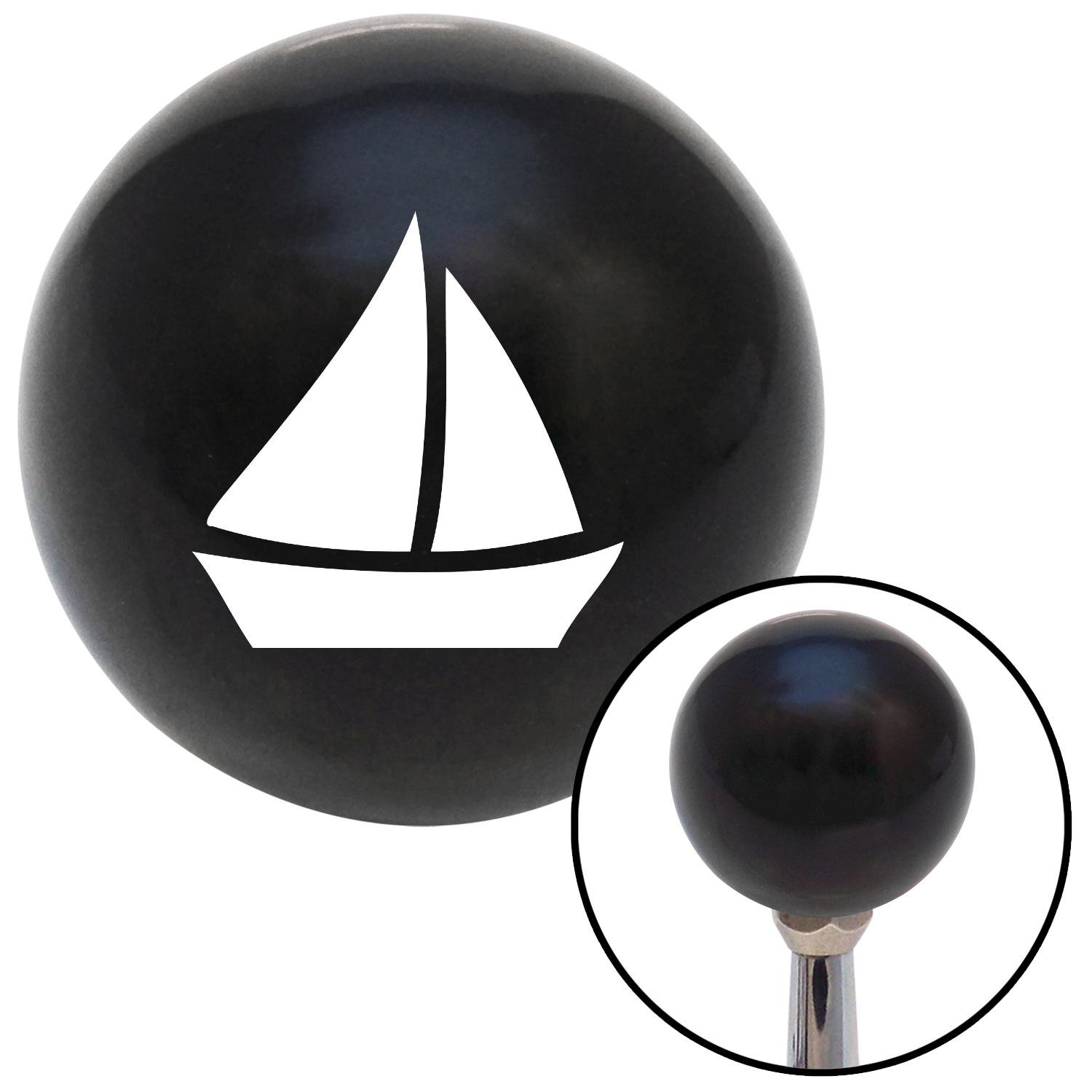 White Sail Boat #2 American Shifter 105210 Black Shift Knob with M16 x 1.5 Insert