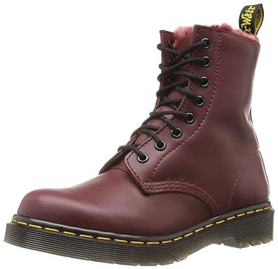 neuer Stil & Luxus Verkauf Einzelhändler kauf verkauf Dr. Martens SERENA Cartegena CHERRY RED Ankle Boots Womens