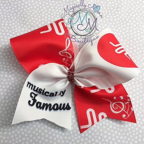 Cheer bow, Musically famous inspired, hair bow, social media, unique Great stocking stuffer tween, teen
