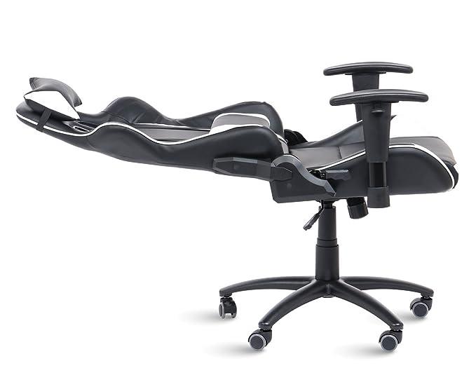 Office Pro Silla Gaming Silla de Escritorio Racing con reposacabezas Brazos Regulables.Silla de Oficina Modelo Sporting: Amazon.es: Hogar