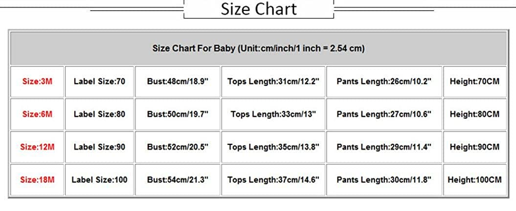 DIGOOD 0-18 Months Toddler Baby Boys Girls Solid Color Hoodies Tops+Plus Print Pants,2Pcs Cool Outfits Clothes