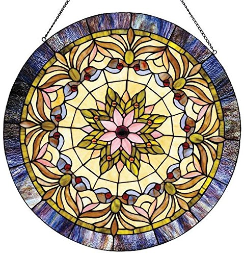 Chloe Lighting Edwardian Man Glass - Stained Edwardian Glass Windows