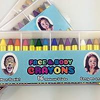 KIOPS 16 Colores Pintura Corporal para Niños Lápices