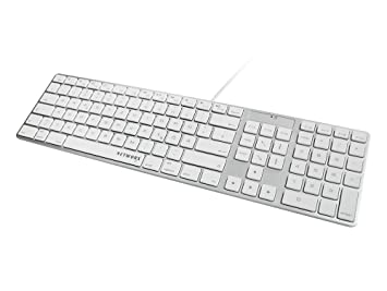 Networx Ultra Slim Tastatur, deutsch, USB, silber: Amazon.de: Elektronik