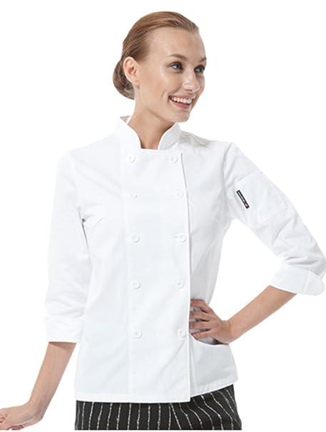 chefs apparel - Giacca da Chef - Donna  Amazon.it  Abbigliamento d897498b6272