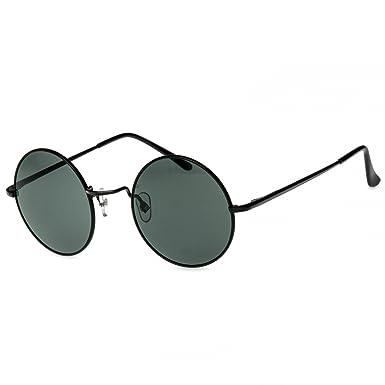 CASPAR SG038 Gafas de Sol Redondas/Gafas Estilo Retro Vintage