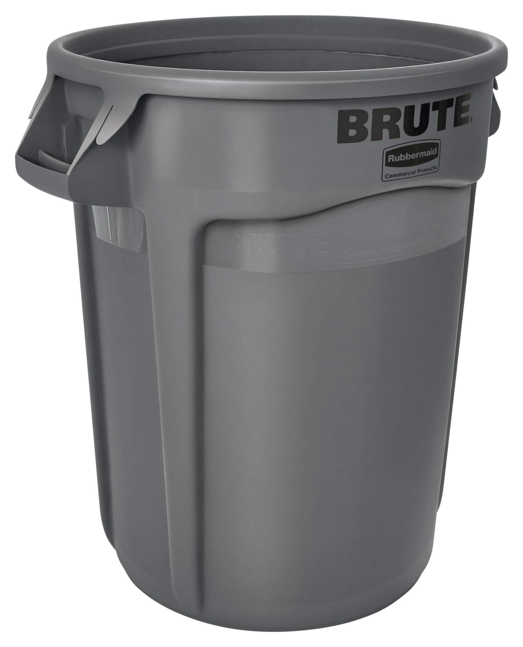 Rubbermaid Commercial Products FG263200GRAY BRUTE Heavy-Duty Round Trash/Garbage Can, 32-Gallon, Gray