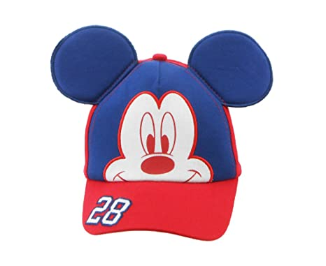kids red blue baseball cap mickey mouse ears adjustable strap personalized disney hats character caps