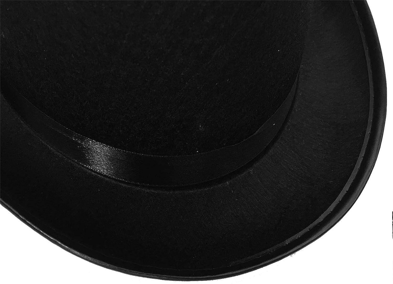 Zeroshop Unisex Black Felt Top Hats for Costume Party,Dress up Hats for Men Women