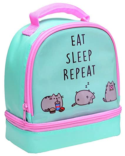 e9677c6576ec Pusheen Two-Compartment Insulated Lunch Bag  Amazon.co.uk  Kitchen   Home