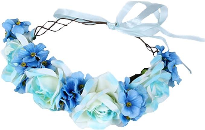 Amazon.com: Vivivalue diadema floral con moño para ...