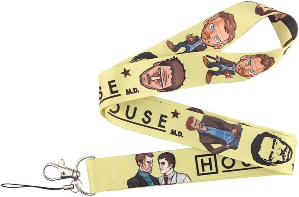 para mascarilla para tel/éfono. Lanyard Dr House cord/ón para el cuello tarjeta identificativa para m/óvil para llaves
