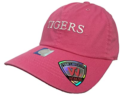 best cheap c4bfe d8266 Image Unavailable. Image not available for. Color  Top of the World LSU  Tigers TOW WOMEN Pink Seaside Adjustable Strap Slouch Hat Cap