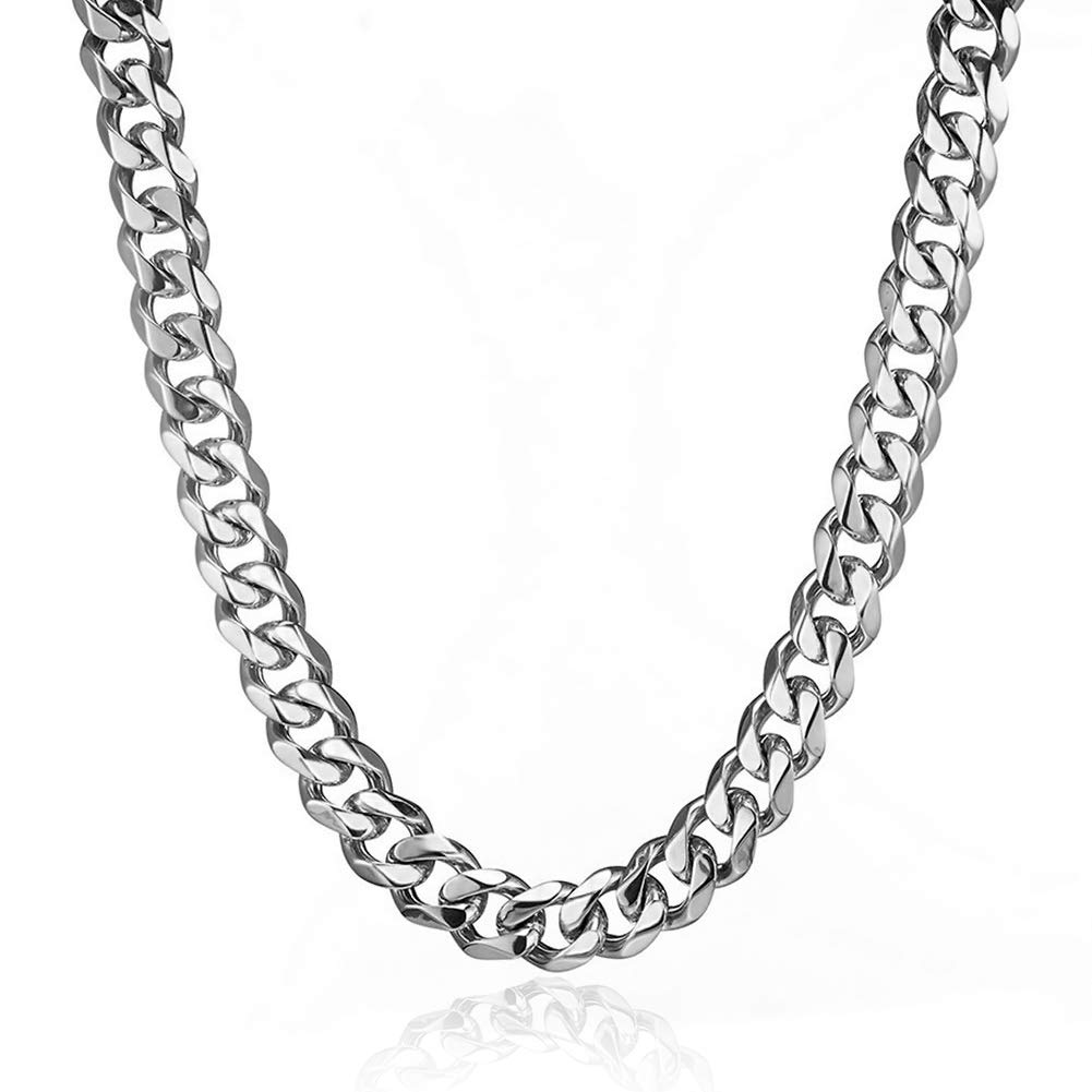 Love this Stainless Steel Curb Necklace!
