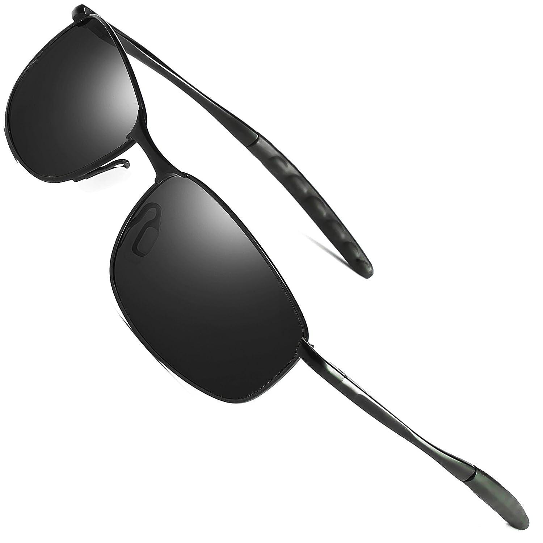 c39550c330e Feidu sport polarized sunglasses for men stylish lens metal frame mens sunglasses  black home kitchen jpg