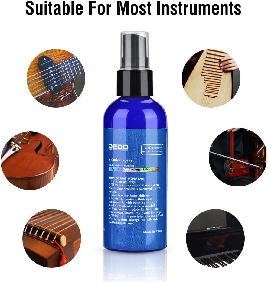 Tbest Limpiador de pulir de la Guitarra portátil 100 ml de Productos de Limpieza de Limpieza de Productos químicos para el Cuidado de la Guitarra acústica Instrumento de Madera de la Guitarra